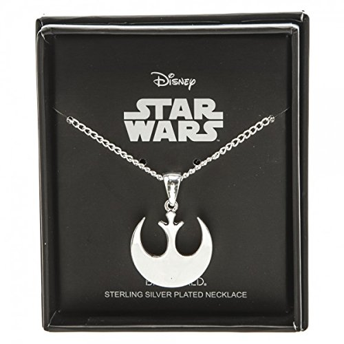 Star Wars Rebel Alliance Silver Plated Boxed Necklace (Rebel Alliance Star Wars)