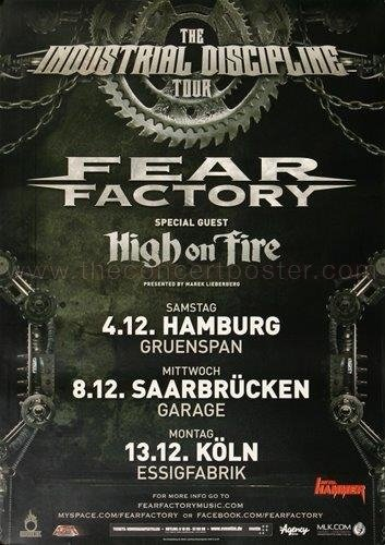 Poster Fear Factory - Fear Factory - Industrial Discipline 2010 - Poster, Concertposter, Concert