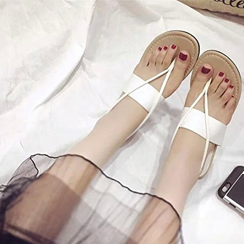 Sandalias de vestir, Ouneed ® Las señoras Bohemia ocio sandalias Peep-Toe zapatos de mujer Blanco