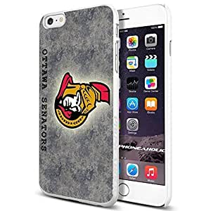 diy zhengNHL HOCKEY Ottawa Senators Logo, , Cool iPhone 6 Plus Case 5.5 Inch Smartphone Case Cover Collector iphone TPU Rubber Case White [By PhoneAholic]