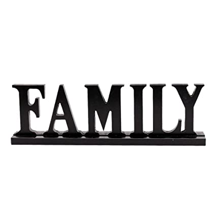 Amazon Com Grace Home Wood Family Tabletop Sign For Home Decor