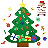 befayoo felt christmas tree for kids diy wall christmas decorations tree set wall hanging with 32