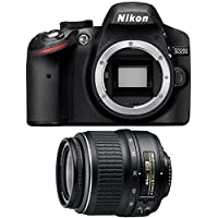 Nikon D3200 24.2 MP 1080p DX-format Digital SLR with 18-55mm f/3.5-5.6G ED II AF-S DX Nikkor Zoom Lens (Black)(Certified Refurbished)