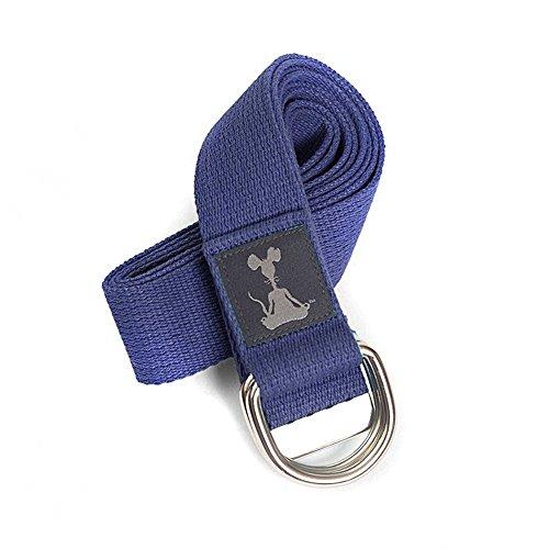 "Yoga Strap: 100% Cotton, Chromed Rings, 1.5"" x 8'"