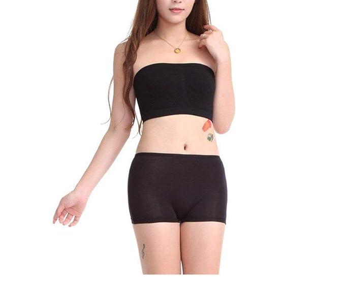 446de33b63 ALBATROZ Women s Girl s Bra Panty Set Free Size Sexy Non Padded Tube Bra  and Boyshort Panty
