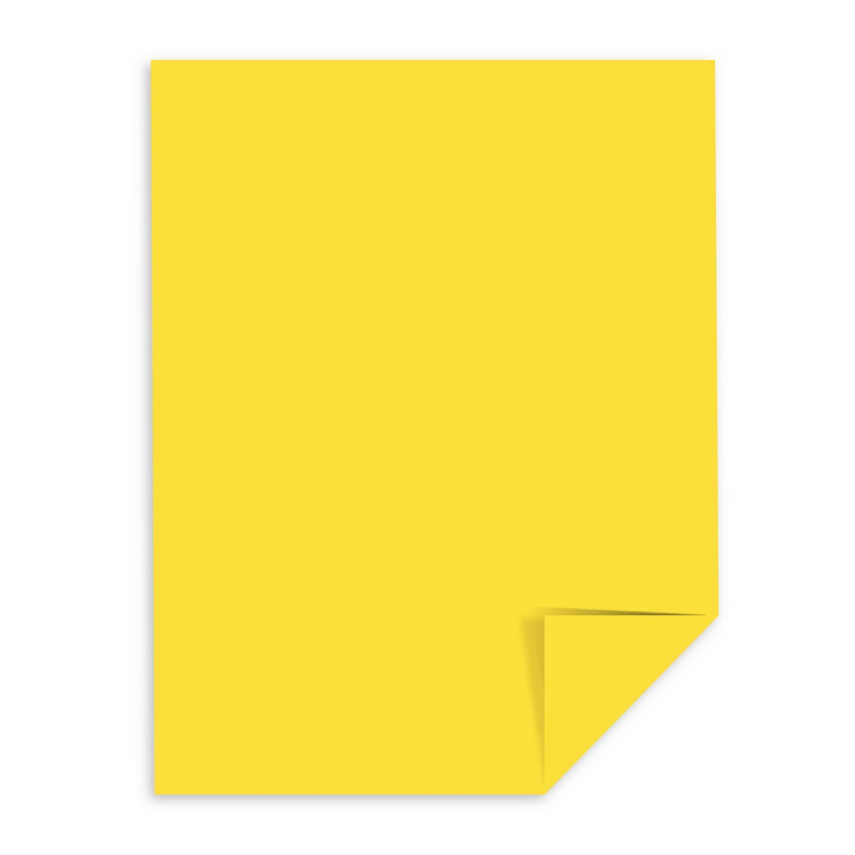 Wausau用紙Astrobright 22531ソーラーイエロー8 1 / 2