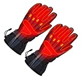 Electric Heated Gloves, Touchscreen Heating Gloves with Rechargeable Li-Po Battery Waterproof Insulated Sports