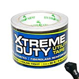 Xtreme Duty Utility Tape, 3'' x 30' Fiberglass Reinforced, Water & UV Resistant + Gloves