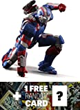 iron arc reactor - Iron Patriot: Play Imaginative Super Alloy x Iron Man 1/12th Scale Action Figure + 1 FREE Official Marvel Trading Card Bundle
