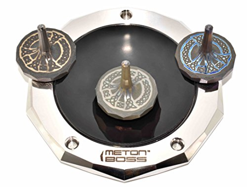 MetonBoss Peace Titanium Spinning Top - Aerospace Grade 5 Titanium (Anodized Golden Magenta) by MetonBoss (Image #5)