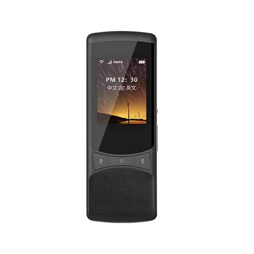 スマート言語翻訳機器、2.4インチHDタッチスクリーンサポート付きポータブルインスタント双方向音声翻訳51言語、観光ビジネス学習用、黒 (色 : ブラック)  ブラック B07QF5XQK4