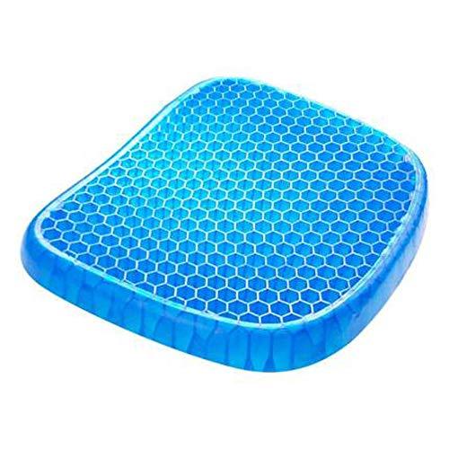 QAWS Cojin Asiento Oficina Coche Silla Ergonomico Honeycomb Gel Cushion Summer Transpirable Coche Cojin De Silla De Oficina Helado Soft 800G