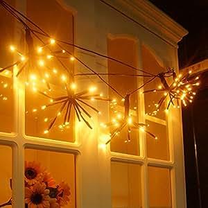 Woya String Lights Decorative Fairy Light for Christmas Patio Garden Bedroom Cafe Party Wedding Pergola DIY