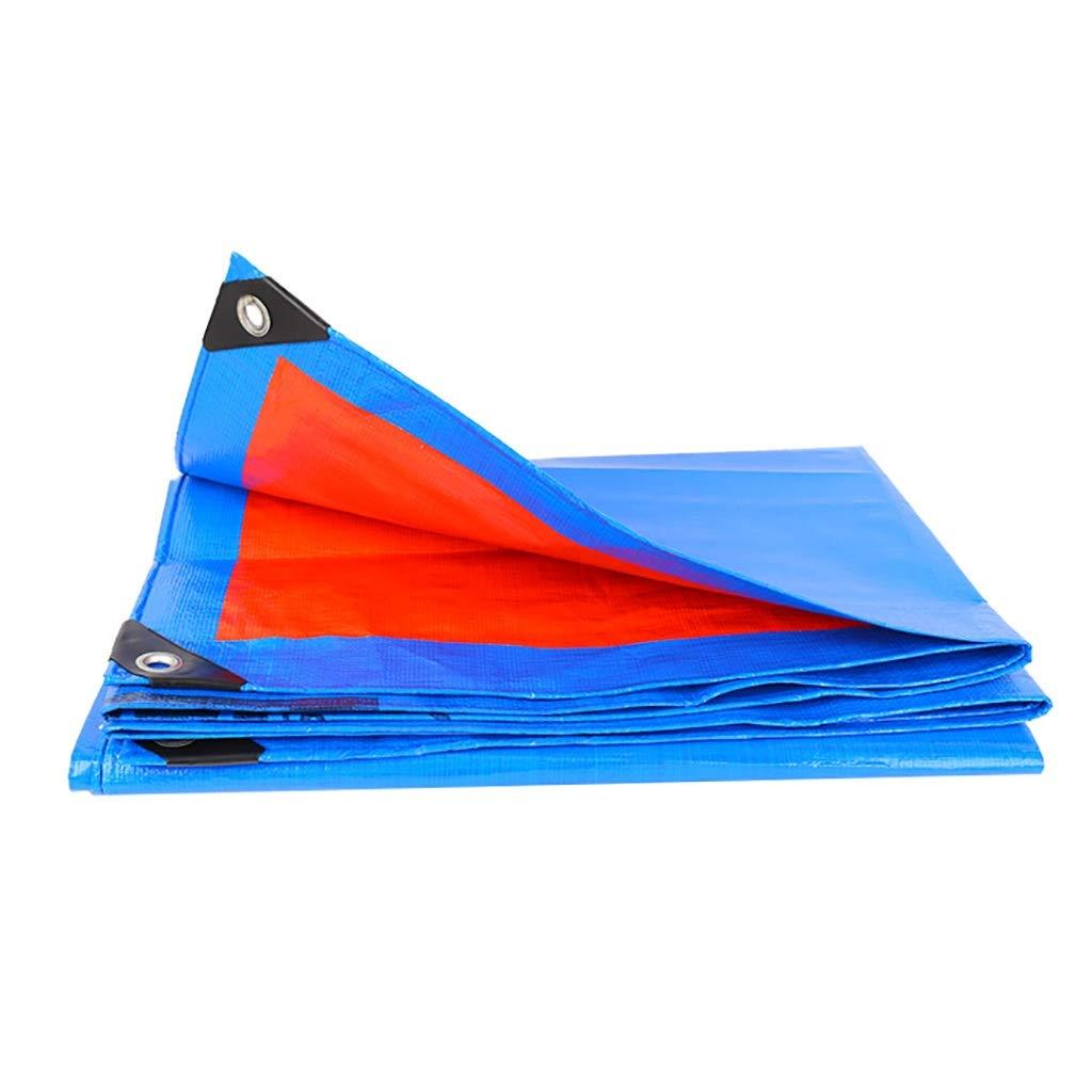 家庭用ポリエチレン(PE)両面防水防水シート厚い屋外プラスチック防水シート工業用雨布。 (サイズ さいず : 5×8m) B07RLRLMTB  5×8m