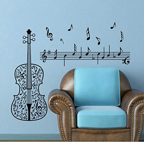 wsydd Violin PVC Wall Sticker Wall Stickers for Kids Rooms Wall Stickers Home Decor Living Room Stickers 35X50cm