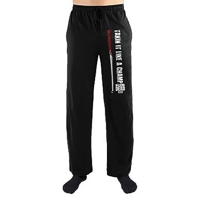 cc7f2a7d2e0 The Walking Dead Takin It Like A Champ Print Men s Loungewear Pajama pjs  Pants Small Black