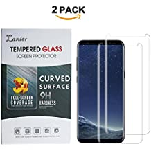 2 Pack Galaxy S8 Plus Tempered Glass Screen Protector, Edge to Edge Case Friendly 3D Curved Full Coverage Screen Protective Cover Film for Samsung S8+ Phone ( Just for S 8+, not for S 8 )