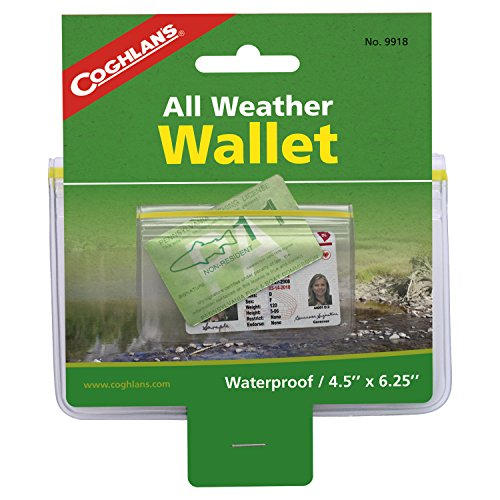 Coghlans weatherproof wallet coghlans beautil for Can you buy a fishing license at walmart