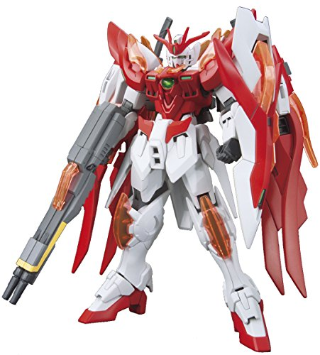Bandai Hobby HGBF Wing Gundam Zero Flame (Honoo) Gundam Build Fighters Model Kit, 1/144 Scale