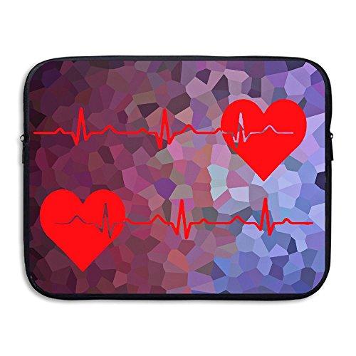 BANA Custom Nurse Heartbeat EKG Waterproof Laptop Sleeve Case 13 Inch