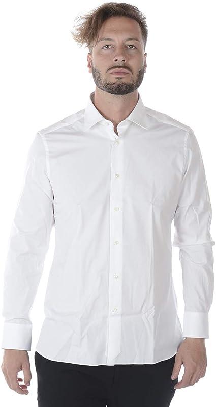 ZEGNA - Camisa Hombre 9MSOJI301063 Trofeo Blanco Confort 42: Amazon.es: Ropa y accesorios