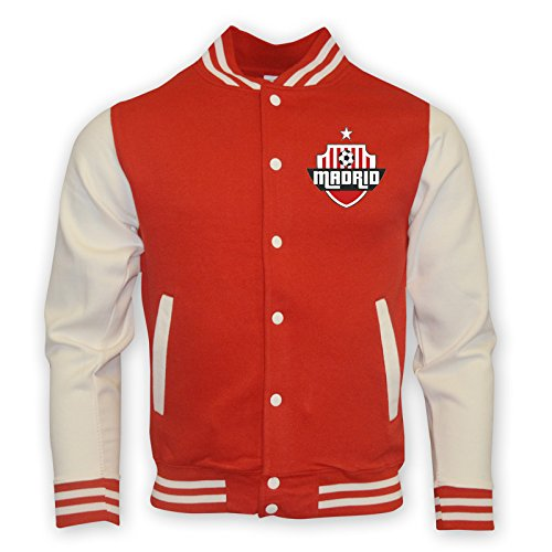 吸収するブラウス起点Atletico Madrid College Baseball Jacket (red)