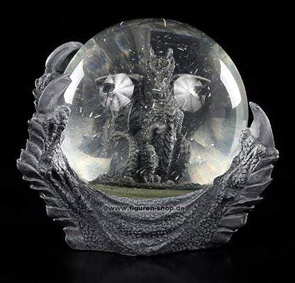 Dragon Boule de Neige Fantaisie Figurine Cadeau Gothique Déco Griffe