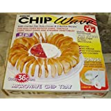Chip Wave - Microwave Potato Chip Maker with Center Dip Tray, Cover and 2 Bonus Slicers - Make Fat Free Healthy Snacks at Home! by Emson