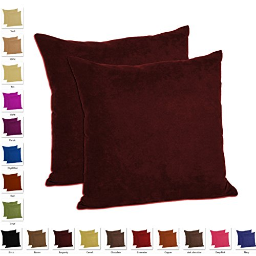 MoonRest - Set of 2 – Microfiber Decorative Pillow, Fully Assembled with Hidden Zipper (20