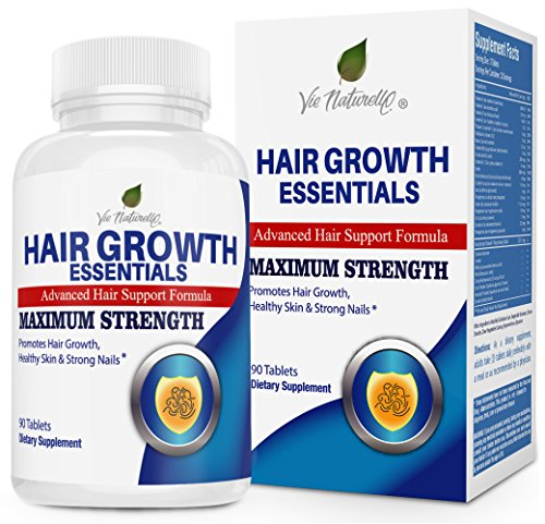 Hair Growth Essentials Supplement For Hair Loss - Advanced Hair Regrowth Treatment With 29 Powerful Hair Growth Vitamins & Nutrients for Rapid Growth for Women and Men - 90 Pills ()