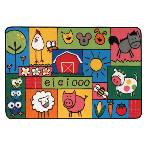 Carpets for Kids 36.39 Old Macdonald Farm Kid$ Value Rug-3' x 3' x, 3' x 4'6'', Multicolored
