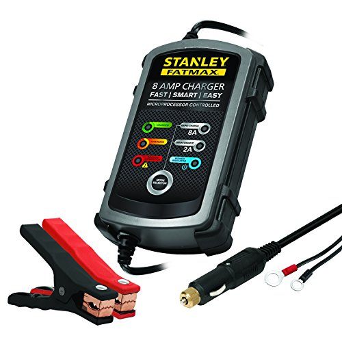 STANLEY FATMAX BC8S Fully Automatic 8A 12V Battery Charger/Maintainer with Cable Clamps reviews