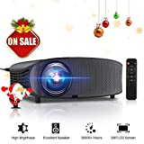 GBTIGER 4000 Lumens Projector, Video Projector 200' LCD Home Theater Projector Full HD Support 1080P HDMI VGA AV USB MicroSD for Home Entertainment, Movie Party and Games