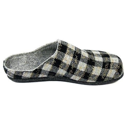 PantoffelmannWOLLFIS - pantuflas Unisex adulto Gris - gris