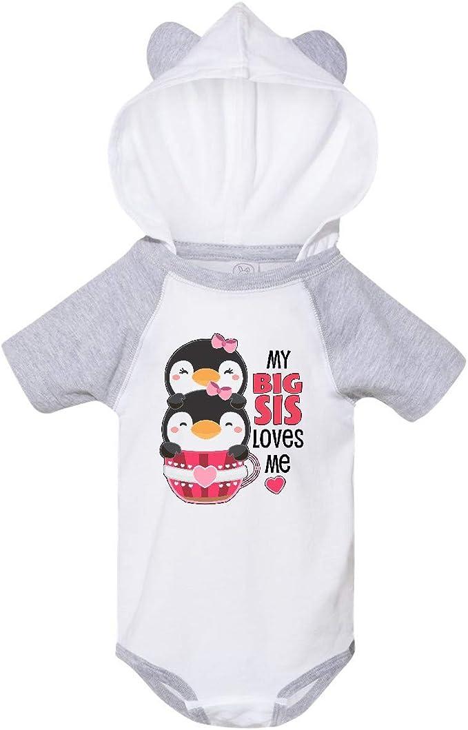 inktastic My Big Sis Loves Me Cute Teacup Penguins Little Toddler T-Shirt