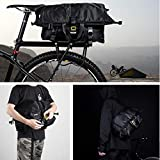 Rhinowalk 25L Waterproof Bicycle Pannier Multi-Function 2 in 1 Bike Commuter Bag Travel Luggage Handbag Shoulder Bag