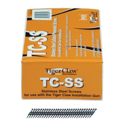 Tiger Claw Stainless Steel Collated Pneumatic Screws (Covers approx 500 Sq Ft)