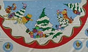 disney winnie the pooh christmas tree skirt pre quilted panels - Disney Christmas Tree Skirt