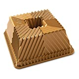 Nordic Ware 80577 Bundt Squared Pan, One Size, Gold
