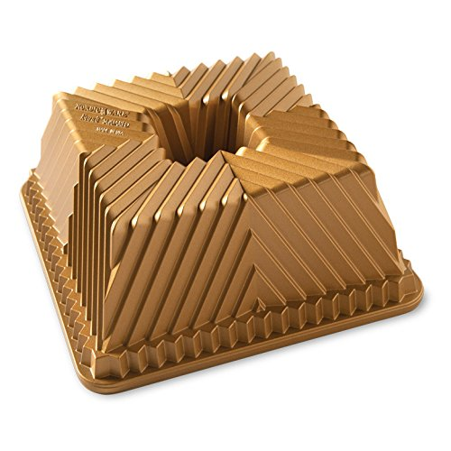 Nordic Ware 80577 Bundt Squared Pan, One Size, Gold -