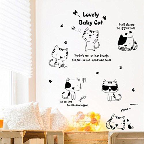 Transer DIY Cats Wall Sticker Decal Kids Bedroom Home Room Decor -