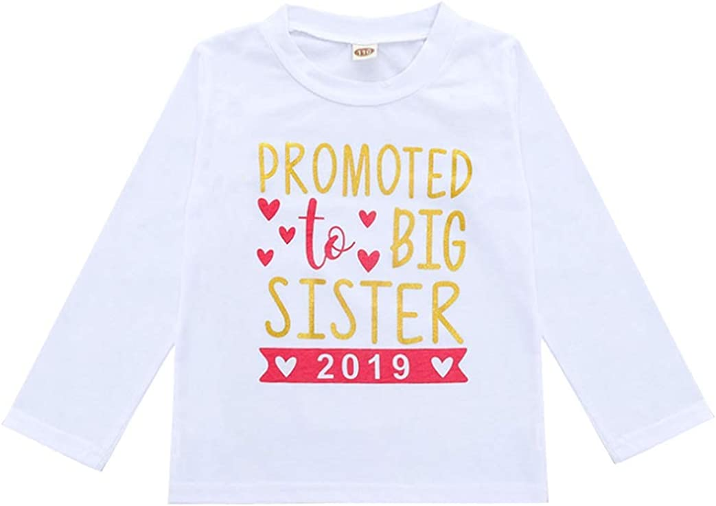 2020 Baby Girl Clothes Outfit Big Sister Letter Print T-Shirt Top Blouse Shirts Birth Announcement Clothes 51--kOrx3tL