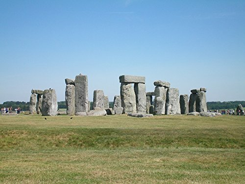 Home Comforts Canvas Print Cliff Stonehenge Oxford Green England Stretched Canvas 32 x 24 - Canvas Oxford Green