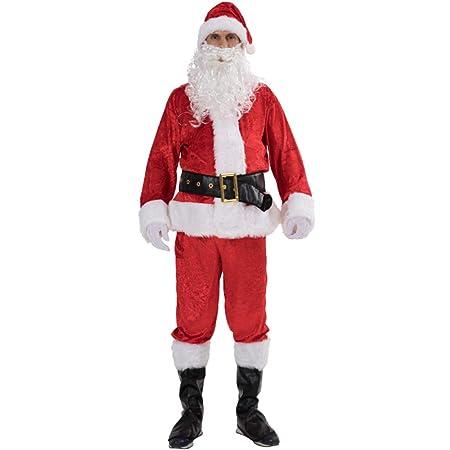 MERRYHE Disfraz De Santa Claus Navideño Adultos De 7 Pz ...