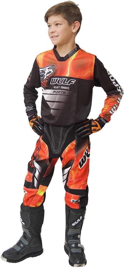 Wulfsport 2020 Forte Cub Kids Race Motocross Suit Motorbike ATV Quad Bike MX Sport Trousers 26 Black