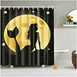 Mermaid Shower Curtain Fangkun Bathroom Shower Curtain Mermaid 3d print - Waterproof, Soap, and Mildew resistant - Machine Washable - Shower Hooks are Included (72 x 72 inches, YL028#)