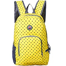 Travel Backpack for Schools - 28l/22l Hopsooken Waterproof Laptop Daypack Bag for Men and Women, Ultra Lightweight School Backpack for Girls, Boys, College Student, Colorful Crossbody Bag (Yellow/25)