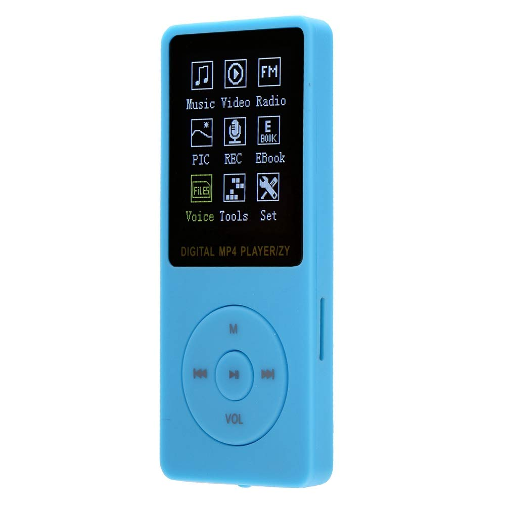 MP4 Player Color TFT Screen MP4 Player Video Player Support FM Stereo Radio Video Playback Photo Viewer and Playback MP3 Player HiFi Music Player USB2.0 Interface Black Yoidesu Portable MP3