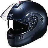 Studds Ninja 3G SUS_N3GDVFFH_MBLKXL Full Face Helmet with Double Visor(Matt Black, XL)