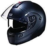 Studds Ninja 3G SUS_N3GDVFFH_MBLKL Full Face Helmet with Double Visor (Matt Black, L)
